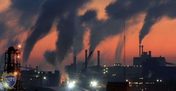 Трубы завода, экология